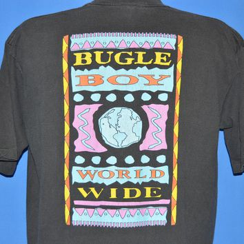 90s Bugle Boy World Wide Neon Double Sided t-shirt Large