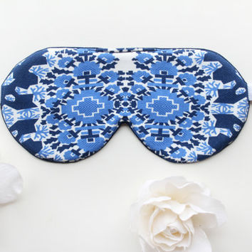Cotton Sleep Mask, Navy Sleep Mask, Chic Sleep Mask
