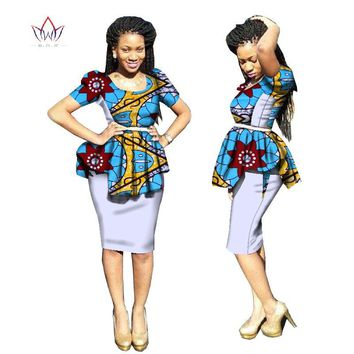 New Arrivals traditional african dress Plus Size 2 Pieces Dashiki Skirt Set