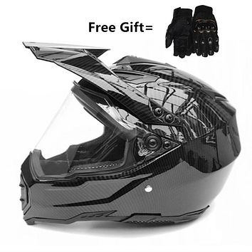 Carbon Fiber new motorcycle helmet mens moto helmet top quality capacete motocross