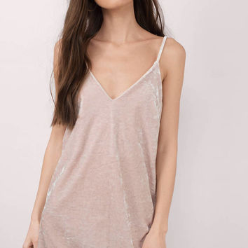 Jade Velvet Cami Shift Dress