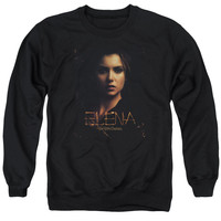 VAMPIRE DIARIES/ELENA - ADULT CREWNECK SWEATSHIRT - BLACK - SM