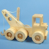 Handcrafted Wooden Toy Tow Truck by WoodcraftingByRobert on Etsy