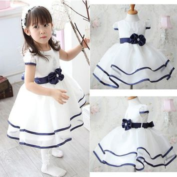 Flower Girl Toddler Baby Princess Dress Party Pageant Wedding Tulle Tutu Dresses