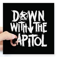 Down With The Capitol Sticker> DOWN WITH THE CAPITOL> Panem Ministry of Propaganda
