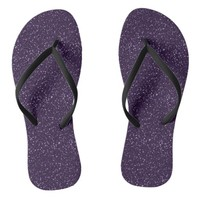 Sparkly Midnight Dark Purple Glitter Flip Flops