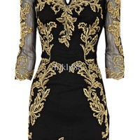 Wholesale Party Dress - Buy Gold Embroidery Black Fashion Sexy Sheath Fashion Evening Dresses Party Dress Size: UK 8,10,12,14,16, $99.0 | DHgate