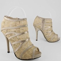 lace peep toe heels $28.60 in CHAMPAGNE - Lace | GoJane.com