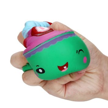 Cute Cake Squishy Slow Rising Cartoon Doll Cream Scented Decompression Toy