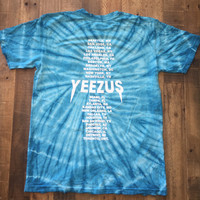 Yeezus Tour Teal Tie Dye Tee Yeezy Tour Merch T-Shirt
