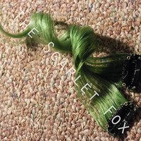 SALE Last Min Halloween Free Shipping 2x Solid Color Green 1x Clip In Human Hair Extensions