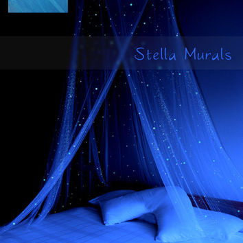 Glow in the Dark Star Canopy | Blue | Clearance