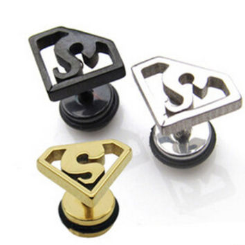 Statement Earrings Hiphop Zinc Alloy Acrylic Stud Earrings For Men Vintage Earrings