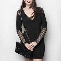 Rocker Mesh Mini Dress - Shop Women's Missy & Plus Size Clothing