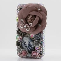 3D Swarovski Crystal Bling Case Cover for iphone 4 4S AT&T Verizo & Sprint Marilyn Monroe Design (Handcrafted by BlingAngels)