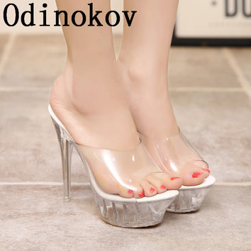 Odinokov 14 CM Ultra High Heels Female Sandals  Casual woman Straw woven Platform wedges around Rome Sandals