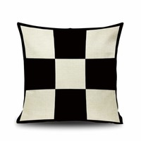 Contrast Paid Pattern Cushion Cover