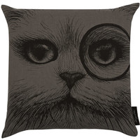 Rory Dobner Grey Cheshire Cat Cushion | Home Accessories by Rory Dobner | Liberty.co.uk