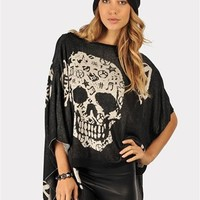 Black Magic Skull Tunic - Black at Necessary Clothing