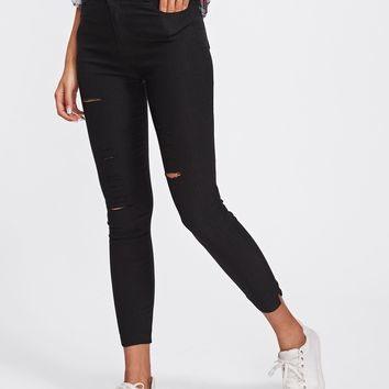 Ripped Ankle Pants