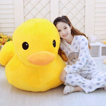 New 2017 Hong Kong Big Yellow Duck Pillows Plush Doll Toys Soft Plush Pillow Cushion Solid Color Animal dolls
