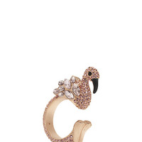 Kate Spade Bird's The Word Ring Pink