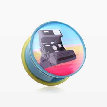 A Pair of Retro Polaroid Camera Single Flared Plug