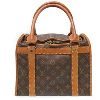 Auth LOUIS VUITTON Monogram Sac Chien 30 Hand Bag Pet Carrier Vintage U2087IOB5