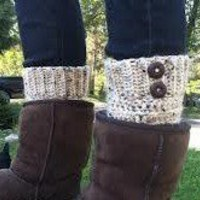 Custom made crocheted knit boot cuff leg warmers from Lets play princess