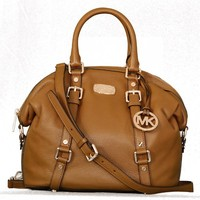 Michael Kors Bedford Medium Satchel Leather - Black