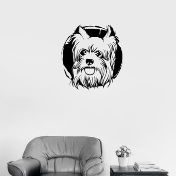 Wall Decal Dog Animal Pet Friend Cheerful Cute Vinyl Sticker Unique Gift (ed692)
