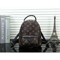 LV Louis Vuitton Women Fashion Daypack School Bag Leather Backpack