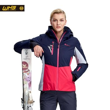 WHS New Women ski Jackets Brand Outdoor windproof skiing coat woman snow breathable jacket ladies snowboarding coats