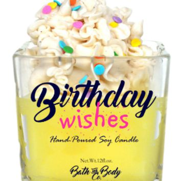 BIRTHDAY WISHES SIGNATURE CANDLE