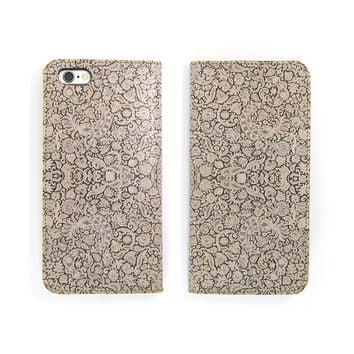 Leather Folio Phone Case - Lace