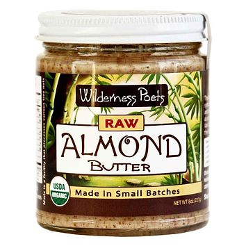 Wilderness Poets Raw & Organic Almond Butter 8 oz. (227g)