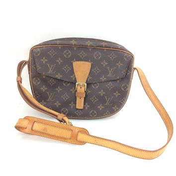AUTH Louis Vuitton Monogram Canvas leather Jeune Fille GM M51225 Shoulder Bag