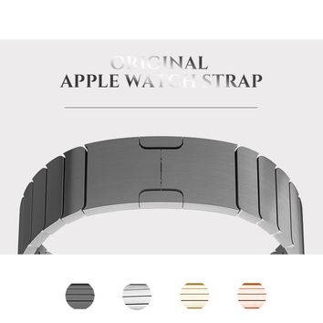 Stainless Steel Original Buckle Metal Strap for Apple Watch band 38mm/42mm adjustable Metal Link Strap for iwatch Series 3 2 1