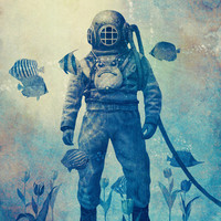 Deep Sea Garden  Art Print by Terry Fan