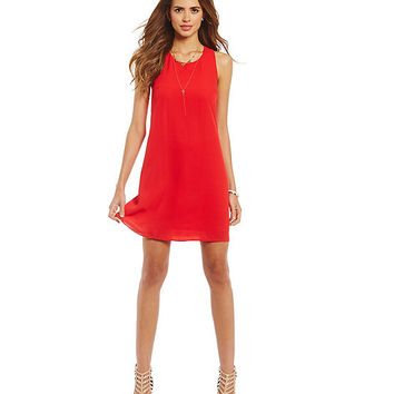 Gianni Bini FAN FAV Pruitt Crepe Shift Dress | Dillards