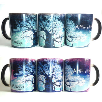 Surprise Gift!  Magic color changing Harry Potter mugs cup after all this time mugs Tea coffee mug cup