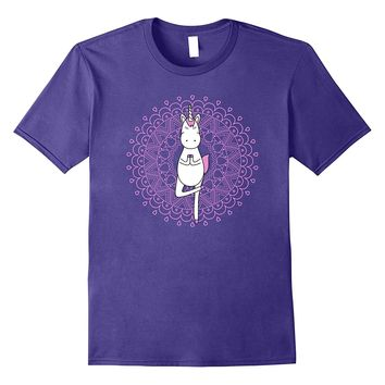 Cute Funny Unique & Trendy Magic Yoga Unicorn T-Shirt & Gift