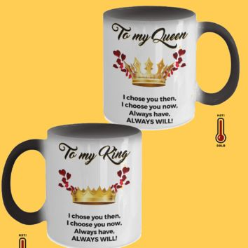 To My Queen - To My King Mug