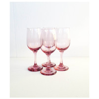 Mid Century Lilac Wine Glasses / Champagne Glasses / Libbey