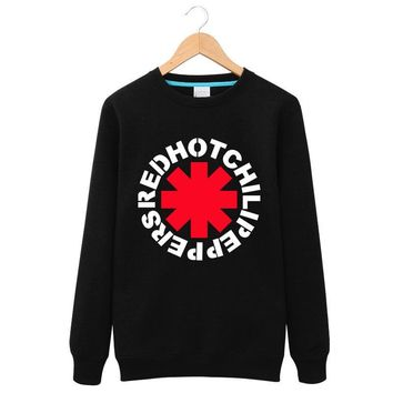2016High Quality Red Hot Chili Peppers  Hoodies Rock and Roll Fleece Printed men and women couple sweatshirts Mens