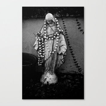 religious photography Virgin Mary statue New Orleans Madonna Mardi Gras travel fine art wall decor black and white iconography gift under 50