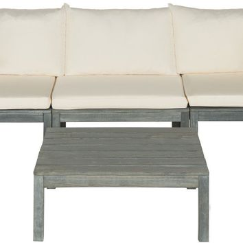 Lynwood Modular Outdoor Sectional Ash Grey/Beige