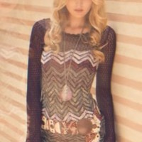 Free People Chevron Sweater Dress at Free People Clothing Boutique