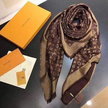 VONEY6G LV Women Smooth Cashmere Warm Winter Cape Scarf Scarves