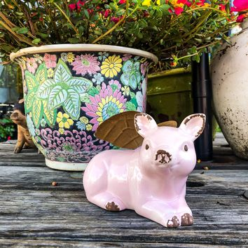 Flying Pig With Wings Figurine